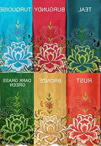 GOHD Decor Passionate Tier Set. Nice on Silk Fabric with cutworks.