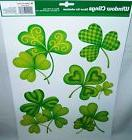 St. Patrick's Day Window Clings SHAMROCK'S with Assorted Sha