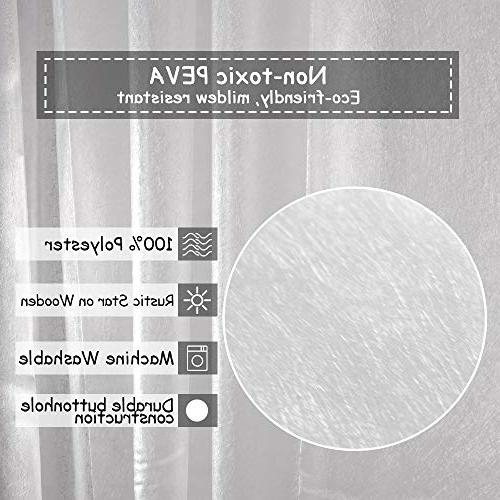 Uphome Bathroom Curtain, Gauge Semi-Transparent Mildewproof Curtain Design