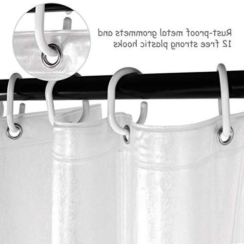 Uphome Curtain, Semi-Transparent Waterproof Mildewproof Curtain