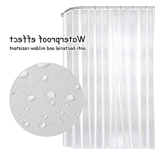 Uphome PEVA Curtain, 15 Durable Semi-Transparent Mildewproof Crackle Pattern Bath Curtain