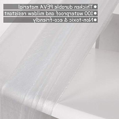 Uphome PEVA Bathroom Curtain, Gauge Semi-Transparent - Curtain Liner