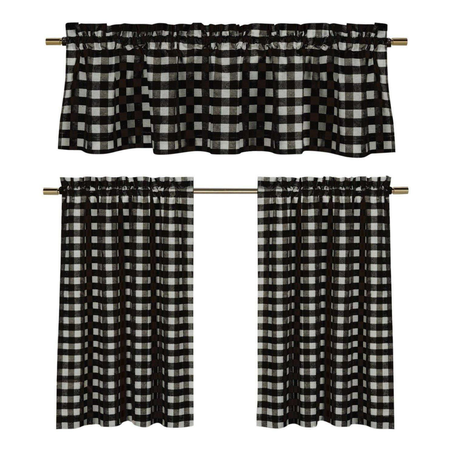 plaid country chic cotton blend
