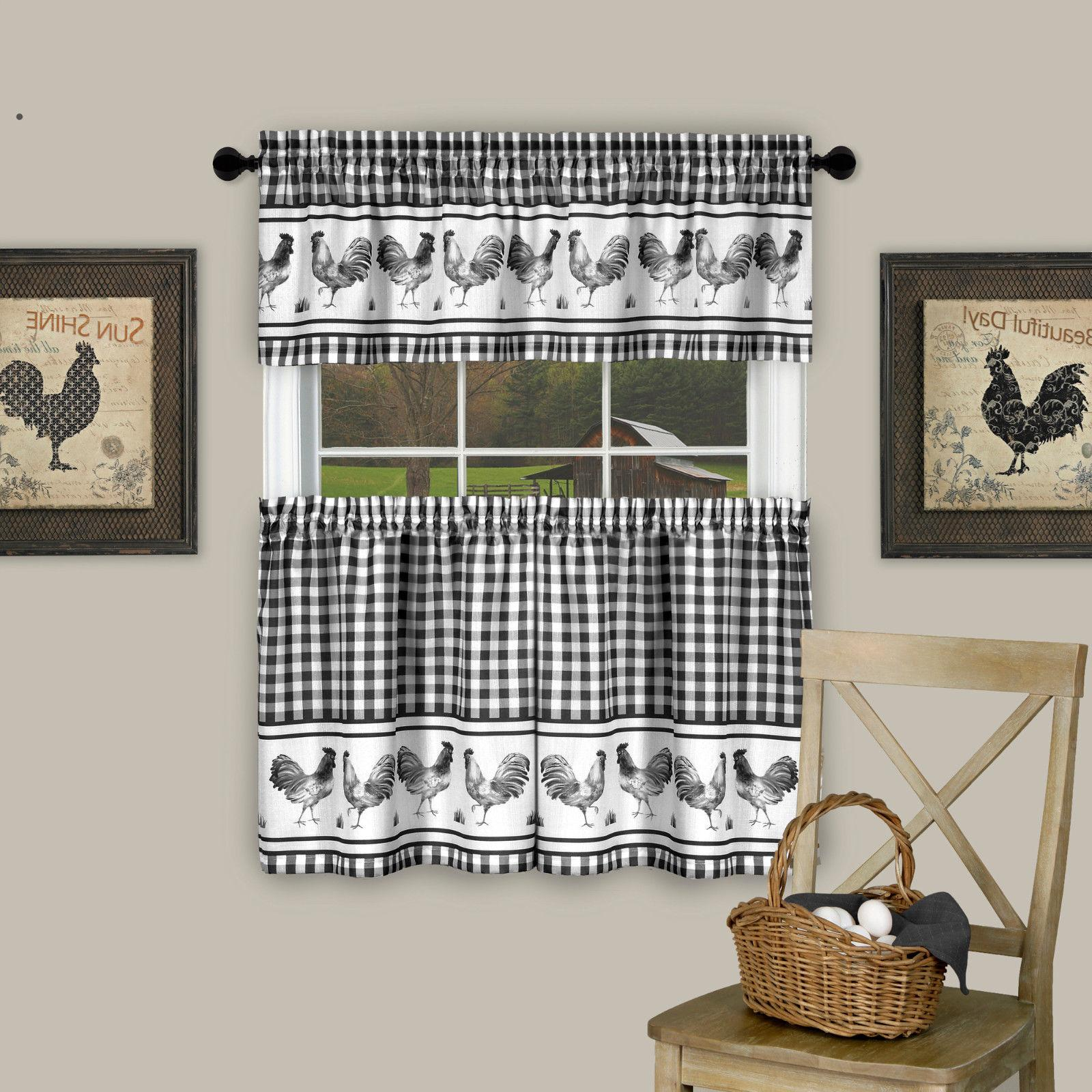 Plaid Tier & Valance - Assorted Sizes