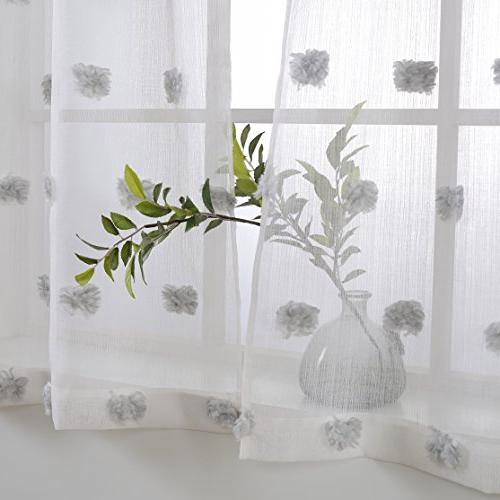 MYSKY Fashion 3 Kitchen Jacquard and Valance Set, and White