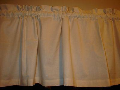 """Primitive Country Muslin Solid Bedroom Kitchen Window Valance Decor 88"""""""