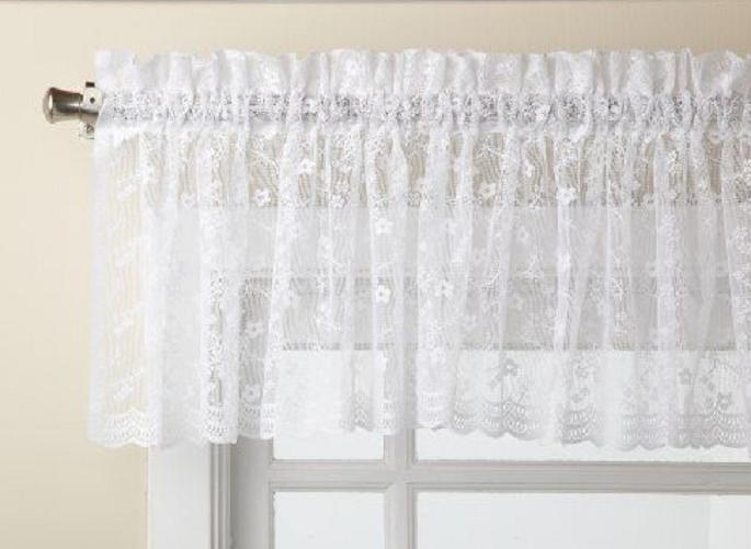 Priscilla Lace Curtain Collection - or Ivory BRAND