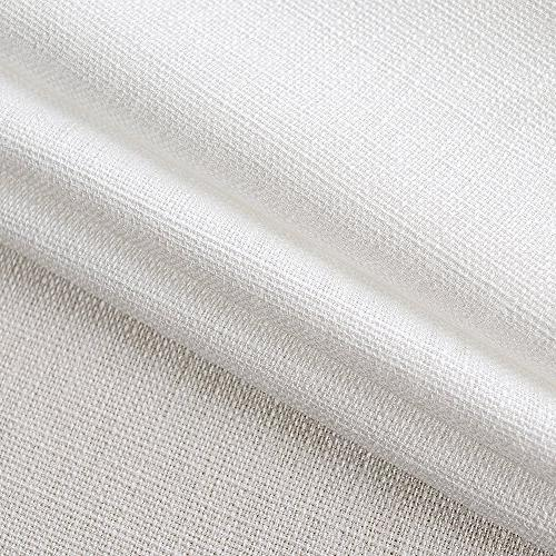 36 Long Tier Curtains Kitchen Casual Weave White Curtain Set Rod Pocket 2 Panels