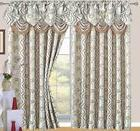 Raven Jacquard Rod Pocket Panel with Valance and Backing, Be