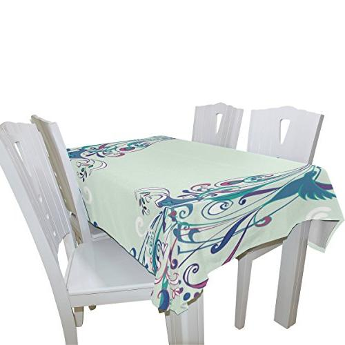 ALIREA Tablecloth Holidays Washable Polyester Table Cloth Cover, 90