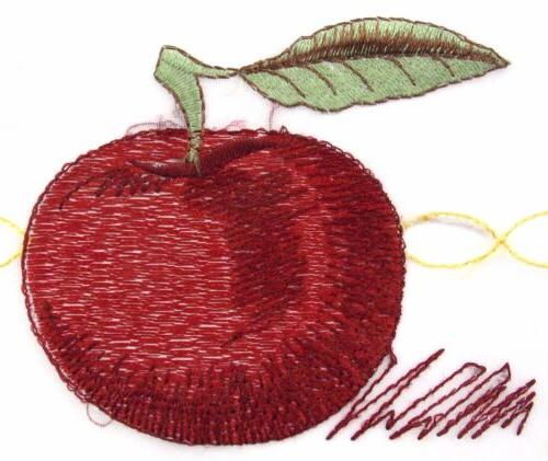 red apple embroidered kitchen curtain