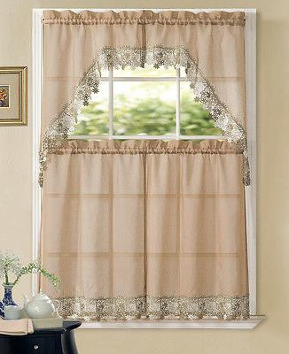 Regal Home Macrame Kitchen Curtain Swag - Colors