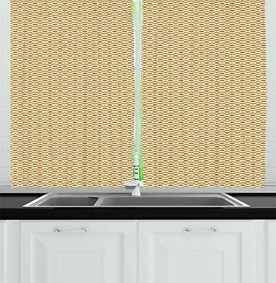 Ambesonne Curtains, Big and Dots Pattern