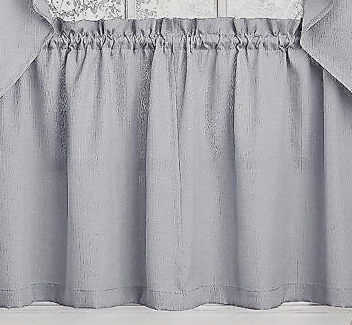 Ribcord Gray color Kitchen Curtain - Brand NEW!