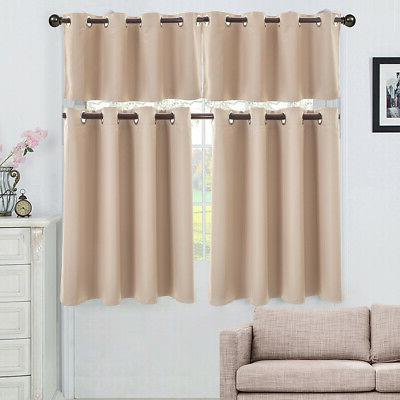 Ring Top Thermal Insulated Blackout Window For Bedroom