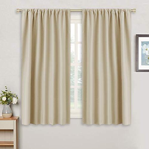 beige window covering curtain panels