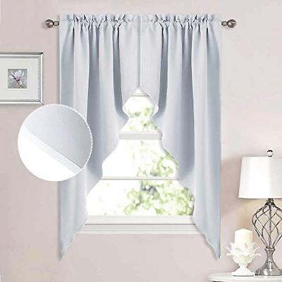 room darkening window treatment pole pocket kitchen