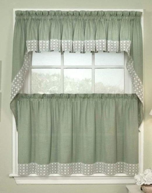 salem kitchen curtains 5 colors tiers swags