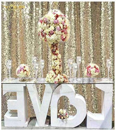 sequin backdrop light gold