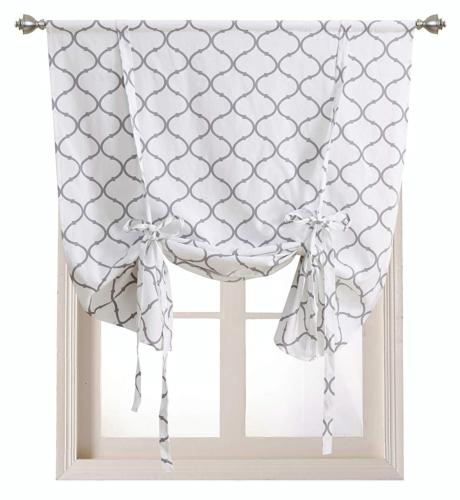 Regal Home Collections Shabby Lattice Kitchen Curtains - Ass
