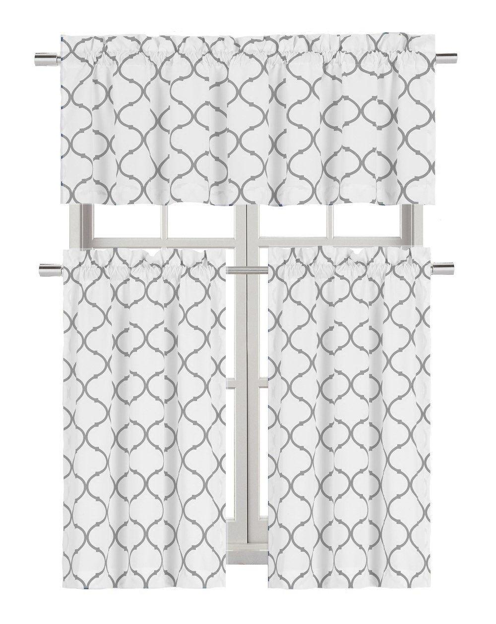 Regal Home Trellis Kitchen Curtain Set - Assorted
