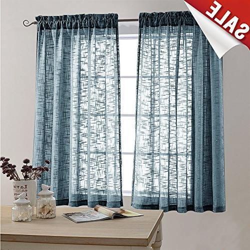 Sheer Curtain Panels for Bedroom Curtain 63 inches