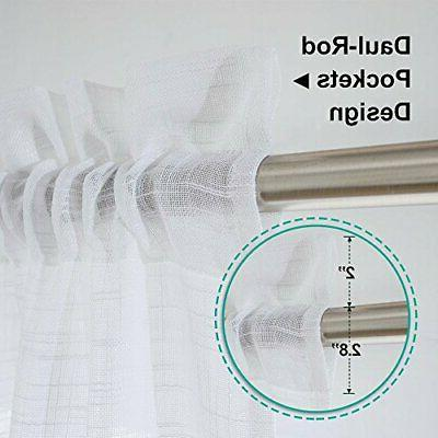 NICETOWN Curtains Small Window - Linen White