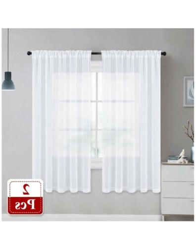Nicetown Sheer Linen Texture Translucent 55x63inches.