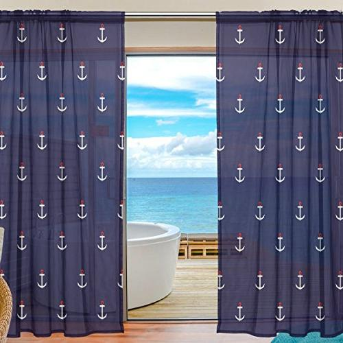 sheer window curtains voile panels