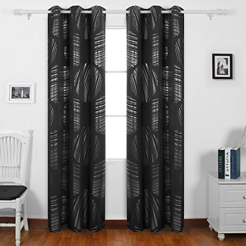 shimmering circle print curtains blackout
