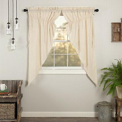 simple life flax country kitchen curtains set