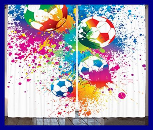 Ambesonne Colored Splashes The Soccer Score