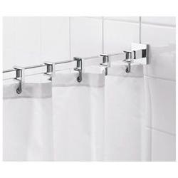 Square 98 Max Shower Rod with Curtain Hooks