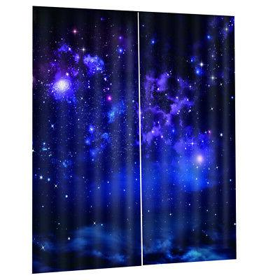 Starry Waterproof Thermal Curtain f/ Kitchen Room