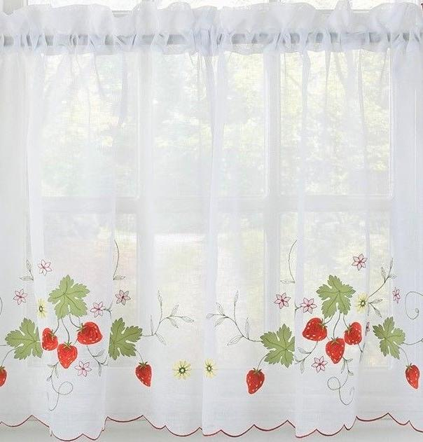 Strawberries Embroidered Kitchen Collection