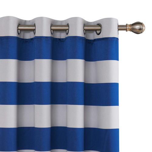striped light filtering curtains grommet nautical thermal