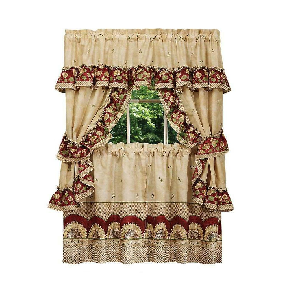 Sunflower Complete 5 Cottage Kitchen Curtain - Assorted Sizes