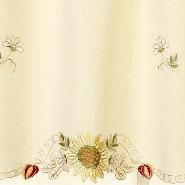 Sunflowers Embroidered Curtains -