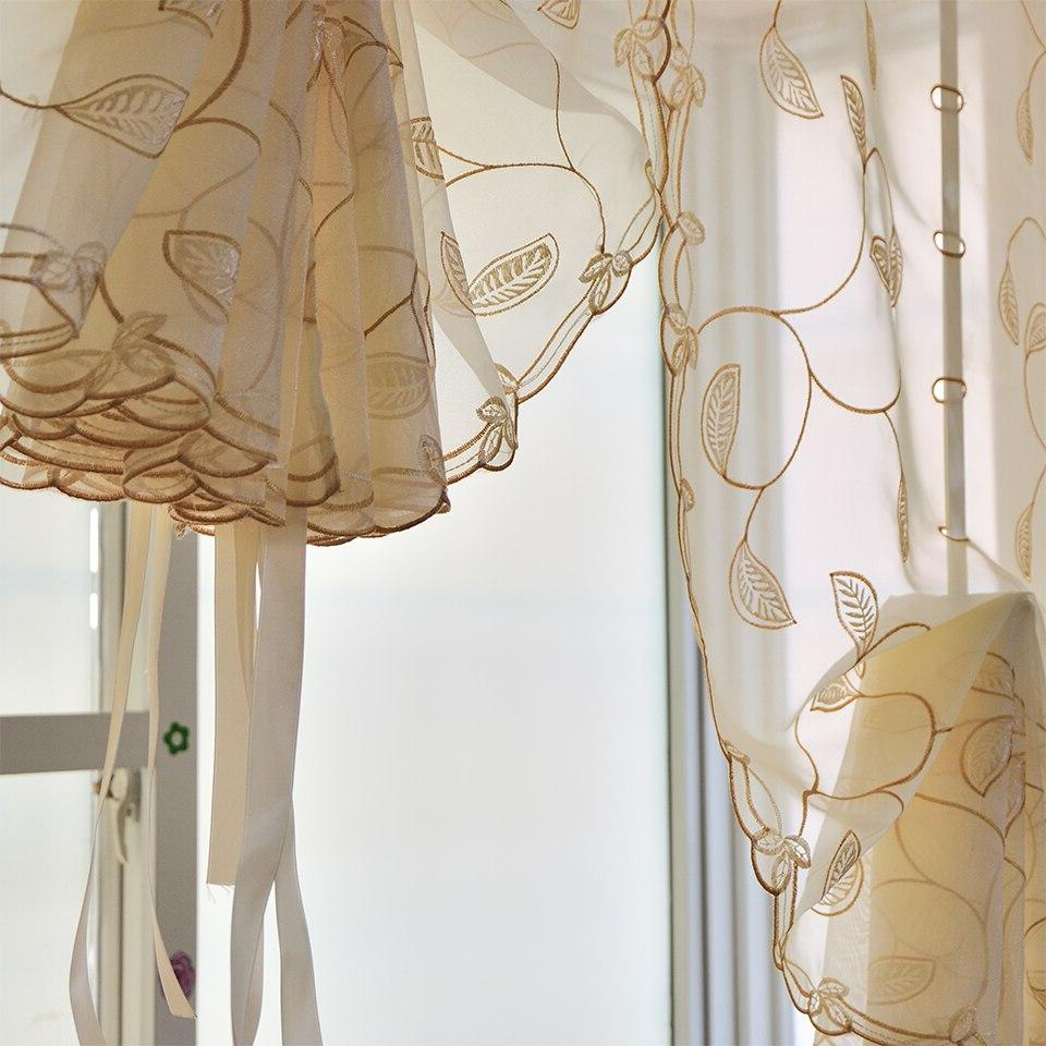 Terylene tulle Embroidered , Window <font><b>Curtains</b></font> Bedroom