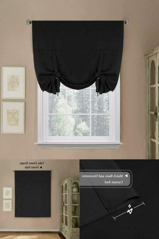 Thermal Drapes And Tie Up Shades Blackout For Kitchen