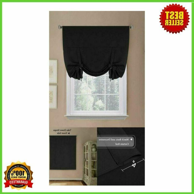 thermal drapes and curtain tie up shades
