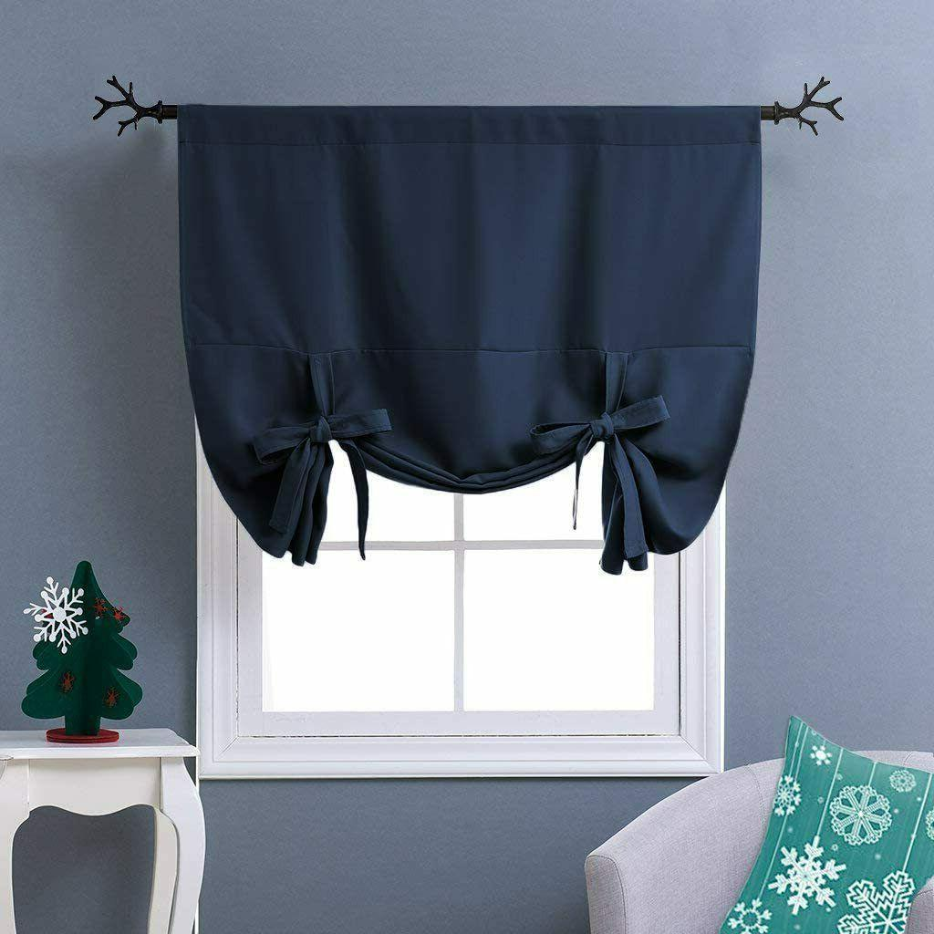 Blackout Thermal Curtains Tie Up Kitchen Decors