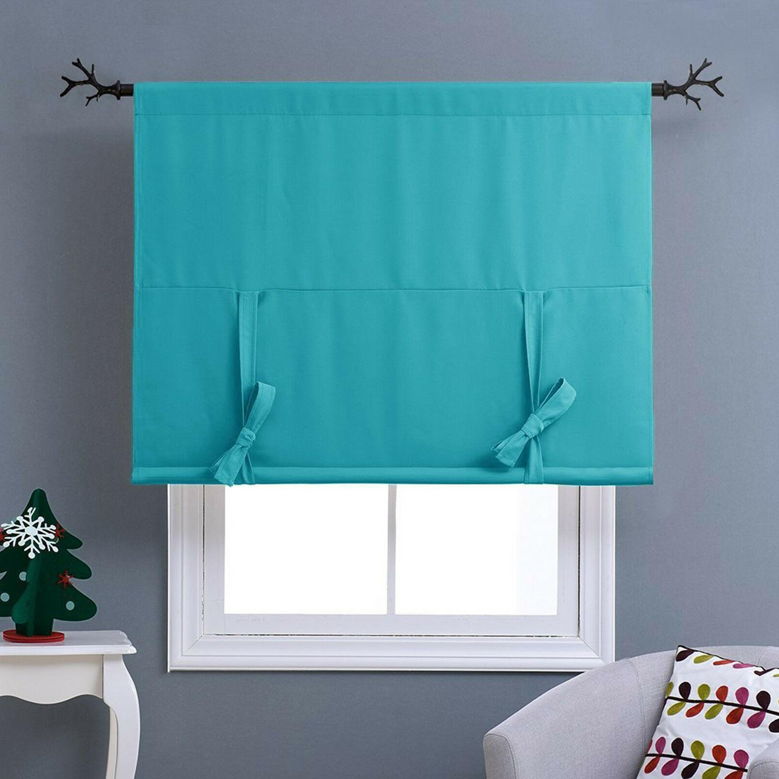 Thermal Drapes Curtains Tie Up Shades