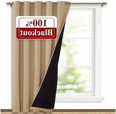 thermal insulated 100 percent blackout curtains noise