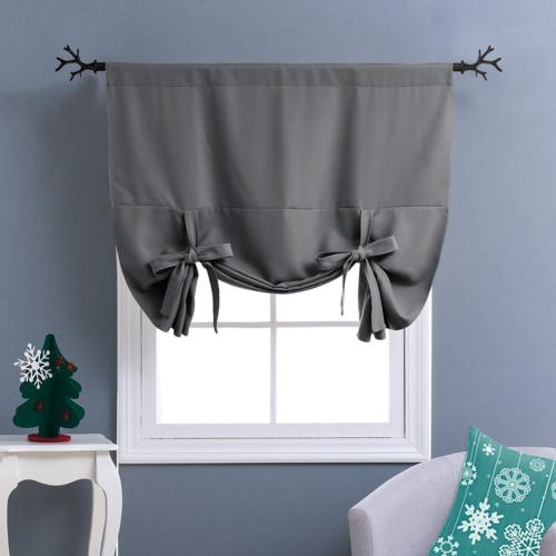 NICETOWN Thermal Insulated Blackout Curtain - Grey Tie Up Sh
