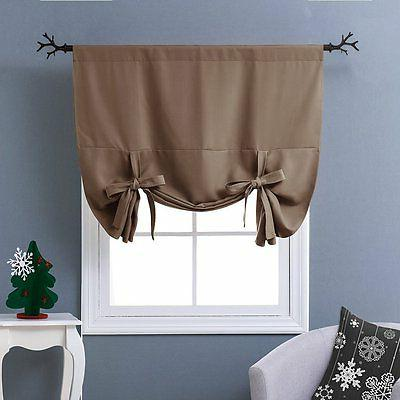 Nicetown Thermal Insulated Blackout Curtain - Tie Up Shade f