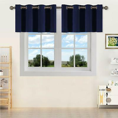 thermal insulated blackout kitchen valances energy efficient