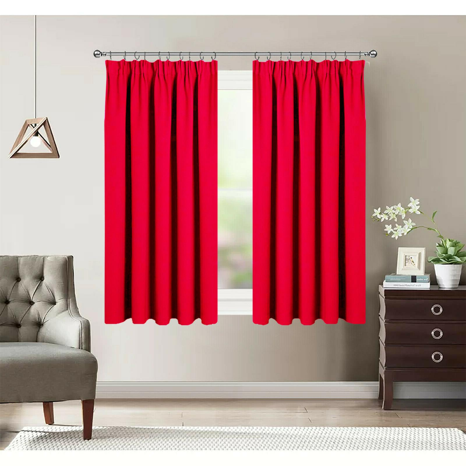 Thermal Insulated Blackout Window Pencil Curtain for