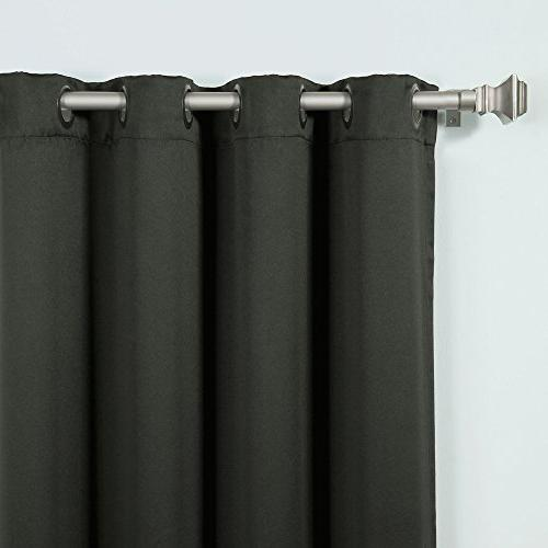 Best Fashion Thermal Insulated Out Curtains Solid by 72-Inch, Black