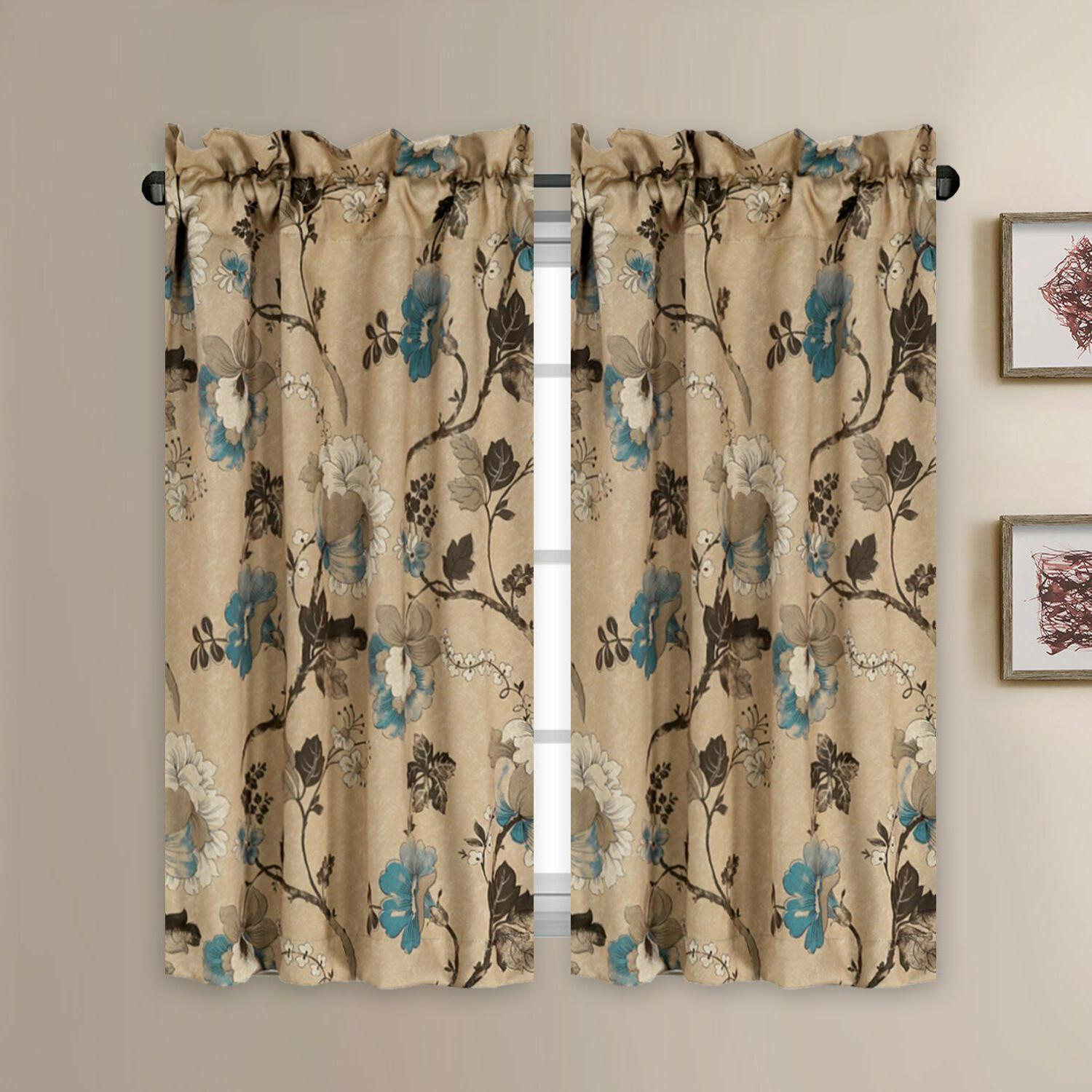 Thermal Insulated Elegant Curtains Rod Pocket Kitchen Kitchen